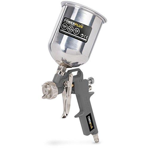Druckluft Hochdruck- Spraypistole, Spritzpistole, Lackierpistole, FLIESBECHERpistole Lackierpistole mit 400 ml Aluminium-Becher - POWAIR0105
