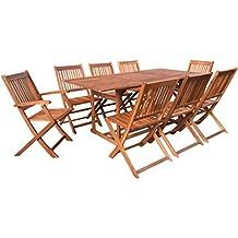 Tavoli E Sedie Da Giardino In Legno Prezzi.Amazon It Tavoli Da Giardino In Legno