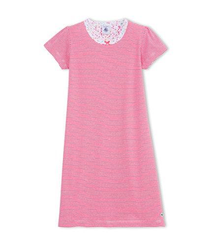Petit Bateau - Chem.Nuit, Camicia da notte da bambine e ragazze,  manica corta, collo rotondo, rosa(rosa (geisha/ecume 39)), 5 anni