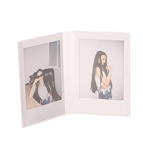Woodmin V Instax Mini Foto Rahmen Transparent Mini Stand für Fujifilm Instax Mini 8 9 8+ 70 7s 90 25 26 50s SP-1 SP-2 Film