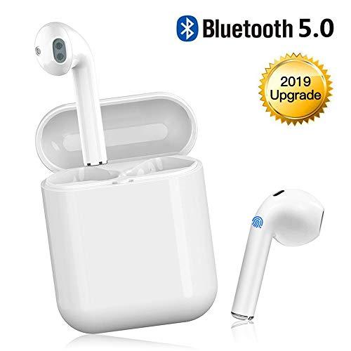 RedieS20 Auriculares Bluetooth, Auriculares Inalámbricos Bluetooth 5.0 Estéreo Hi-Fi Sonido IPX7 Resistentes al Agua,100 Horas Autonomía 3000mAH Estuche de Carga para la Apple Airpods Android iPhone