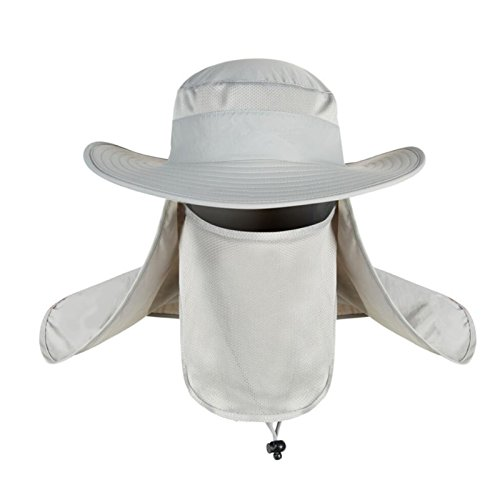 SHARK ARMY Sombrero Caza Gorro Al Aire Libre Sombrero de Sol con Cuello  Cara Protección UV f1659f3a7c7