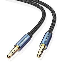 UGREEN Cavo Audio Jack 3.5mm, 1M Cavo AUX 3,5mm in nylon Cavo Jack per cuffie, Auto, iPhone, iPad, iPod, Smartphone, Tablet, Laptop, Mp3, Autoradio, CD/DVD, Altoparlante, TV, ecc - Audi Servizio Di Trasmissione