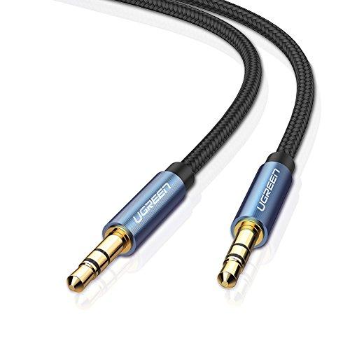 UGREEN Aux Kabel Klinkenkabel 3.5mm Auto Audiokabel Metallgehäuse Aux Kabel für Auto Handy iPhone iPod iPad Bluetooth Lautsprecher Kopfhörer Heim/KFZ Stereoanlagen MP3 Player und mehr, Blau 1m Test