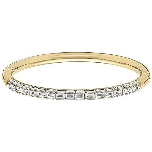 Swarovski Bracciale da Donna, Domino cristallo bianco 5.8cm di taglio baguette 5166704