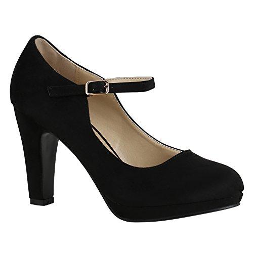 -Strap High Heels Riemchenpumps Stilettos 157204 Schwarz Berkley 41 Flandell ()