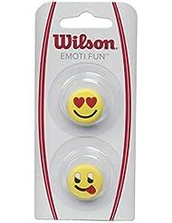 Wilson Emoti-Fun Heart Eyes/Tongue Out Antivibrador de Tenis, Unisex Adulto, Amarillo (Yellow), Talla Única