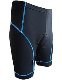 Phenovo Men Road Bike Riding Quick-Dry Shorts Gel Padded Cycling Shorts Blue L