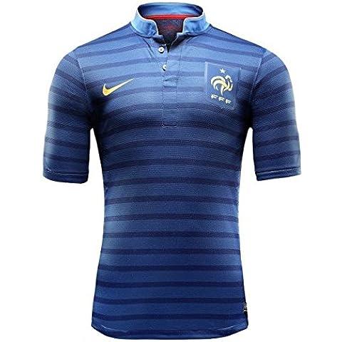 Maillot Authentique hogar Euro 2012–FFF–Francia–azul XL