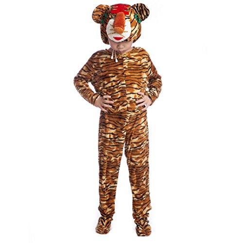 Honeystore Kind's Unisex Tiger Kostüm Einteilig Pyjamas Freizeitkleidung Tier Cosplay (Zwillinge Kostüm Ideen Siamesische)