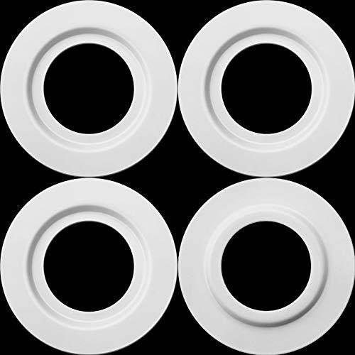 Anilla Reductor de Pantalla de Lámpara de Metal Blanca para Ajuste de Luz de Placa de ES/E27 a BC/B22 Convertidor Adaptador Arandelas de Pantalla de Lámpara (4)