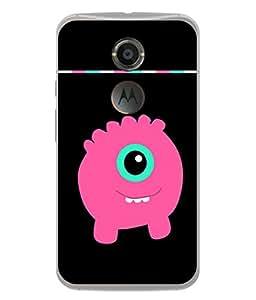PrintVisa Designer Back Case Cover for Motorola Google Nexus 6 (money bank for kids pinkish)