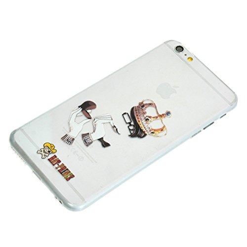 Phone case & Hülle Für IPhone 6 / 6s, Creative Character Pattern Transparent TPU Schutzhülle ( SKU : S-IP6G-7101M ) S-IP6G-7101K