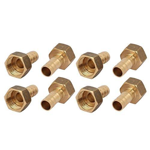 DealMux 3 / 8BSP Innengewinde 10 mm Schlauchanschluss Messingrohre Koppler-Verbindungs ??Fitting 8pcs