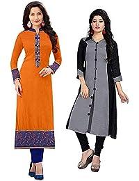 Pramukh Fashion Cotton Semistichead Pack Of 3 Kurtis Combo(1003.grey Skarp)