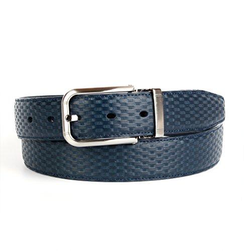 Crown anthoni 3,5 cm réversible pour homme, en cuir bleu marine, 90 10138927546