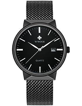 [Gesponsert]Neue Männer Uhren Top marke Luxus Wasserdichte Ultradünne Datum Uhr Männlichen Stahlband Lässig Quarzuhr Männer...
