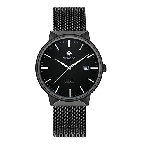 Nouvelle Hommes Montres de marque de luxe ultra fine étanche date Montre Hommes bande en acier Lässig Horloge à quartz hommes poignet montre de sport