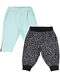 Lil Orchids Girls Pack of 2 Casual Knee Length Pant(LO-2PCK-WVN-CPR-CMB-2)