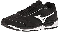 Mizuno Mens Synchro Mx Baseball Shoe, Black/White, 8 D US