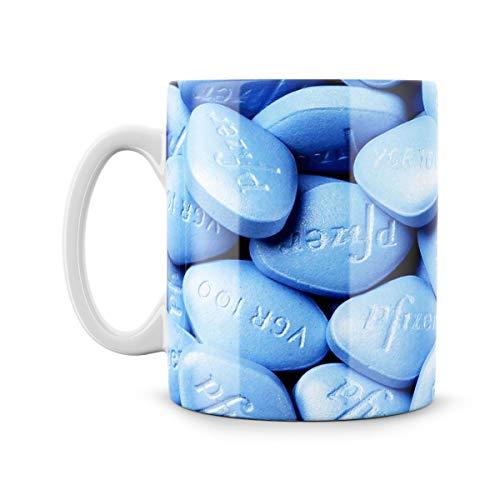 Little Blue pillole Meme divertente tazza regalo per lui disfunzione erettile Disfunction