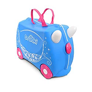 Trunki Trolley Kinderkoffer, Handgepäck für Kinder: Pearl Princess Carriage (Blau)