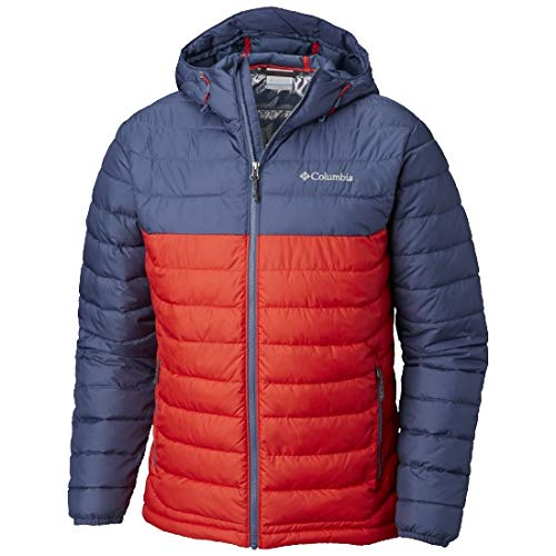 Columbia Chaqueta Impermeable con Capucha para Hombre, Powder Lite Hooded Jacket