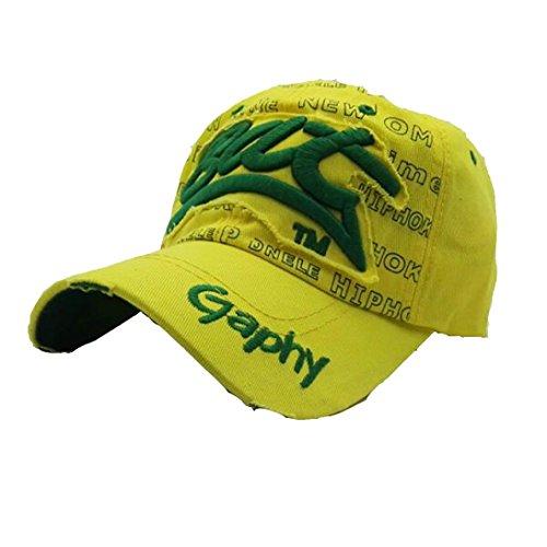 UFACEStickerei Brief Baseball Cap Visor Gestickte Sommer-Kappen-Hüte für Mann-Frauen-zufällige Hüte Hip Hop-Baseballmützen (Grün)