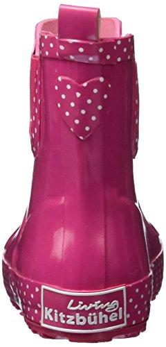 Living Kitzbühel Gummistiefel Eulen-applikation, Bottes de Pluie fille Pink (Bubblegum)