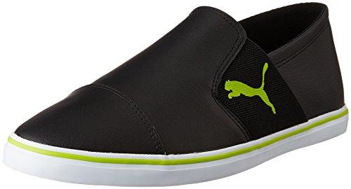 Puma Men's Elsu V2 Slip On Sl Idp Puma Black and Limepunch Sneakers - 7 UK/India (40.5 EU)