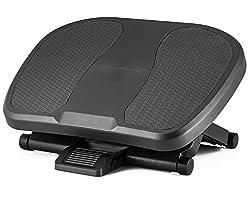 Halter F8012 Ergonomische Premium-Fußstütze–45x 33cm–verstellbare Winkel und 3verschiedene Höhen-Positionen–Schwarz