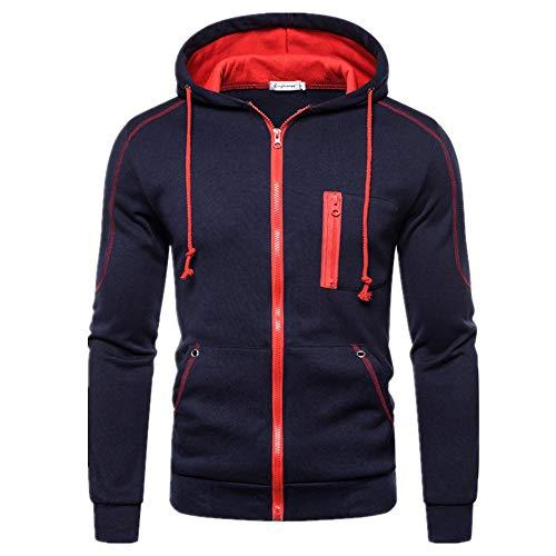 YEZIJIANG Homme Veste Chemisier Jacket de Sport à Capuche Sweats à Capuche Zipper Slim Hoodies pour Hommes Sweat-Shirts Sweat-Shirts Hoody Hoodies Slim Zipper Veste Manteau