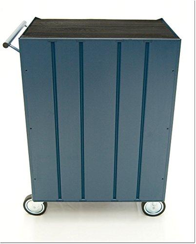 Werkstattwagen, 7 Schubladen, blau, gefüllt mit 15 Werkzeugsätzen - 5