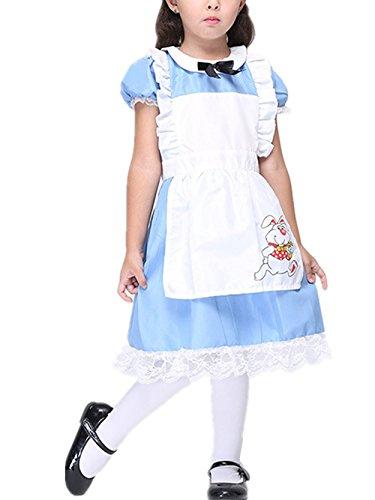 Beunique® Nette Mädchen Anime Cosplay Französisch Maid Schürze Kostüm (Niedliche Kostüme Jährigen Das Halloween Jungen)