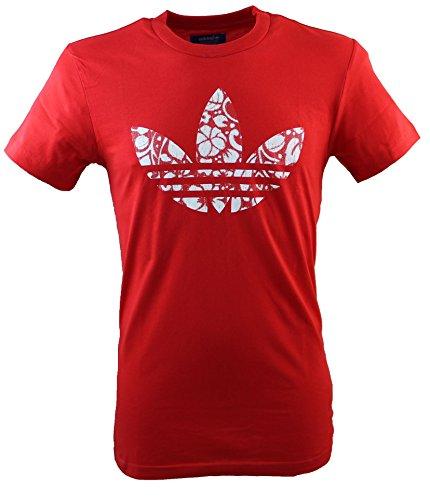 adidas Hawaii Trefoil T-shirt pour femme Rouge vif