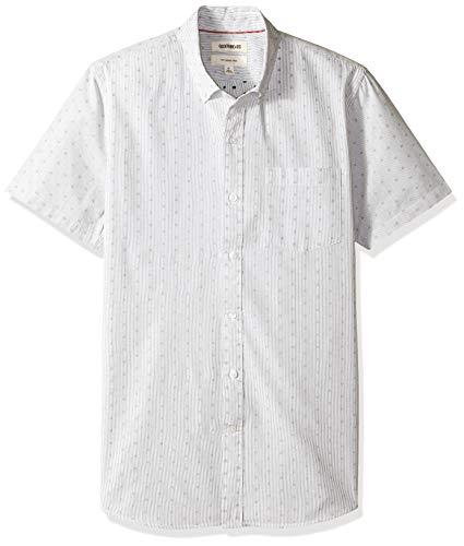 Goodthreads Slim-Fit Short-Sleeve Dobby button-down-shirts, black stripe dot, US XXXL Tall (EU 5XL-6XL) - Dobby Dot