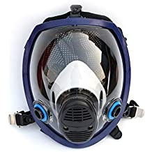 Funnyrunstore Mascarilla química Ligera Completa Máscara Anti-Gas Ácido para Polvo Respirador Pintura Pesticida Spray