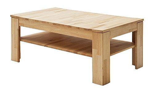 Robas Lund Couchtisch Massivholz Wohnzimmertisch Tisch Buche, Fritz BxHxT 104 x 44 x 62 cm