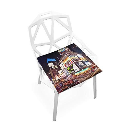 Enhusk Autositz Stuhl Kissen Manhattan New York City Times Square Besondere Wit Weiche rutschfeste Memory Foam Stuhlkissen Kissen Sitz Für Home Küche Schreibtisch 16x16 Zoll Schaum Bürostuhl Kissen - Spa-square-kissen