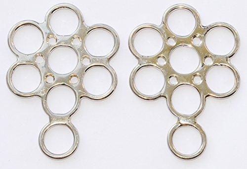 Amka hackamore Wheel avec anneau extra Combinaison = 1, en acier inoxydable, 1paire de fleurs hackamore-Flower hackamore