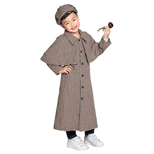 LOLANTA Sherlock Holmes Kostüm für Jungen Kinder Halloween Cosplay Kostüm (10-11 Jahre) (Sherlock Holmes Kostüm Halloween)