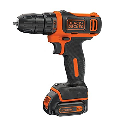 Black and Decker 10.8 V Lithium-Ion Compact Cordless Drill