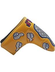 mamimamih Color Amarillo Cubre Funda De Cabeza De Putter de golf para Scotty Cameron Taylormade Ping Titleist Odyssey Blade