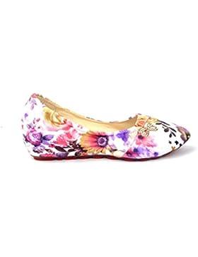 Zapatos de las muchachas de la bailarina. Cómodo, poner y talón Ocultos