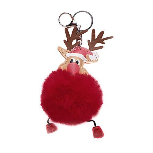Scrox 1x Navidad Llavero Originales Elk Colgante Cadena