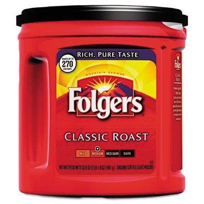 folgers-coffee-classic-roast-regular-ground-339-oz-can-by-ldc-inc-liberty-dist-foods