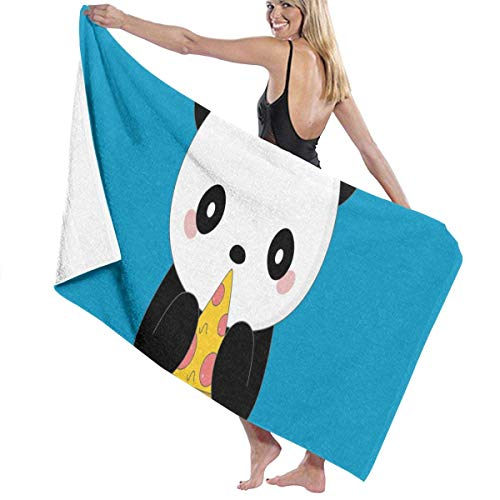 xcvgcxcvasda Serviette de bain, Cute Panda Eat Pizza Personalized Custom Women Men Quick Dry Lightweight Beach & Bath Blanket Great for Beach Trips, Pool, Swimming and Camping 31