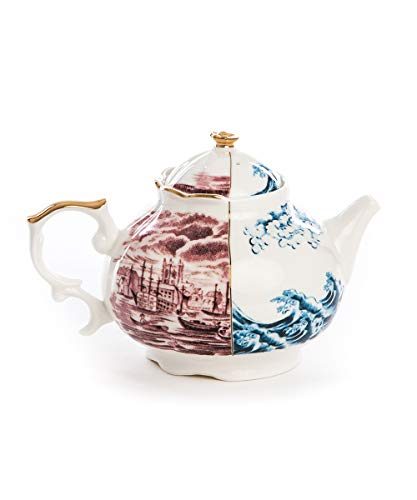 SELETTI 'Théière en Porcelaine Hybrid-smeraldina Ø cm. 15 h. 13