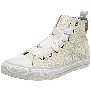 7aea51b2b25b6e Stiefelparadies Damen Plateau Sneaker Metallic Lack Schuhe High Heel  Plateauschuhe 155482 Weiss 36 Flandell LEC5izRm4U