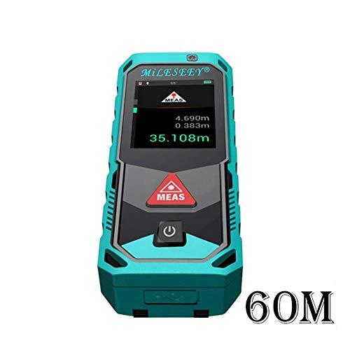 WXGY 40M / 60M / Bluetooth Digitaler Laser-Entfernungsmesser-Handentfernungsmesser mit rotierendem Touchscreen-Laser-Meter mit Kamera-Punktsucher